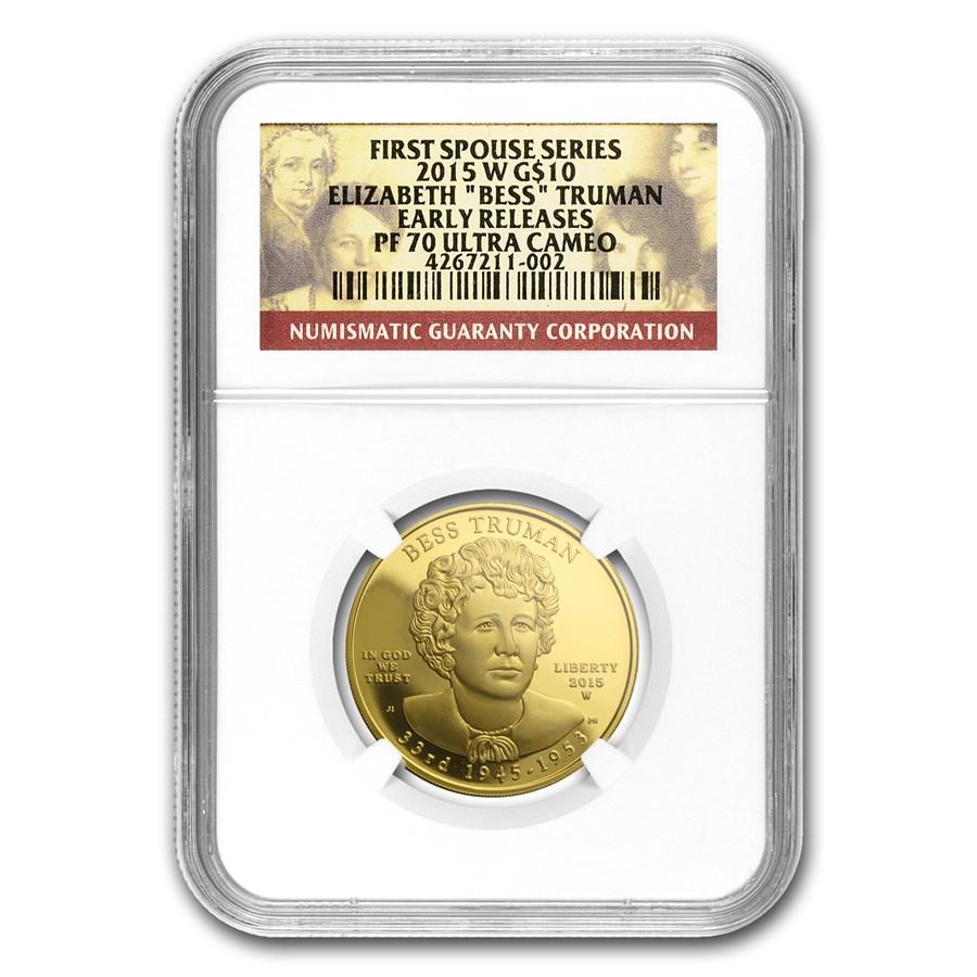 2015-W 1/2 oz Gold Bess Truman PF-70 NGC (ER)