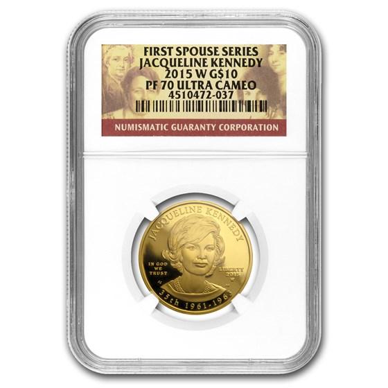 2015-W 1/2 oz Gold Jacqueline Kennedy PF-70 NGC