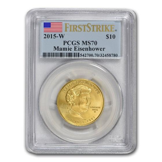 2015-W 1/2 oz Gold Mamie Eisenhower MS-70 PCGS (First Strike)