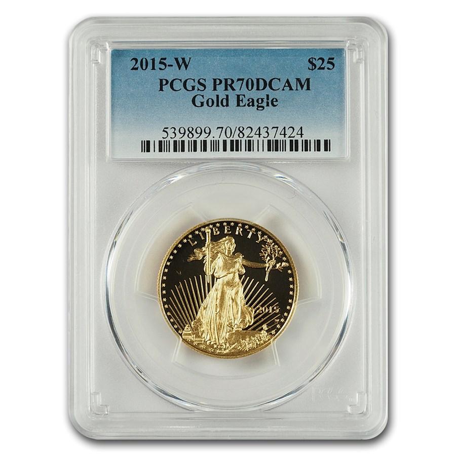 2015-W 1/2 oz Proof Gold American Eagle PR-70 PCGS