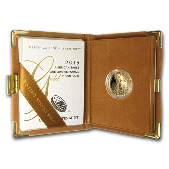 2015-W 1/4 oz Proof American Gold Eagle (w/Box & COA)