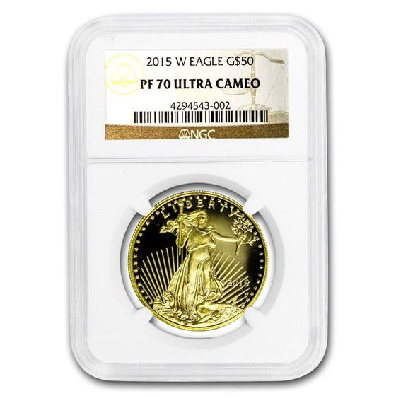 2015-W 1 oz Proof American Gold Eagle PF-70 UCAM NGC