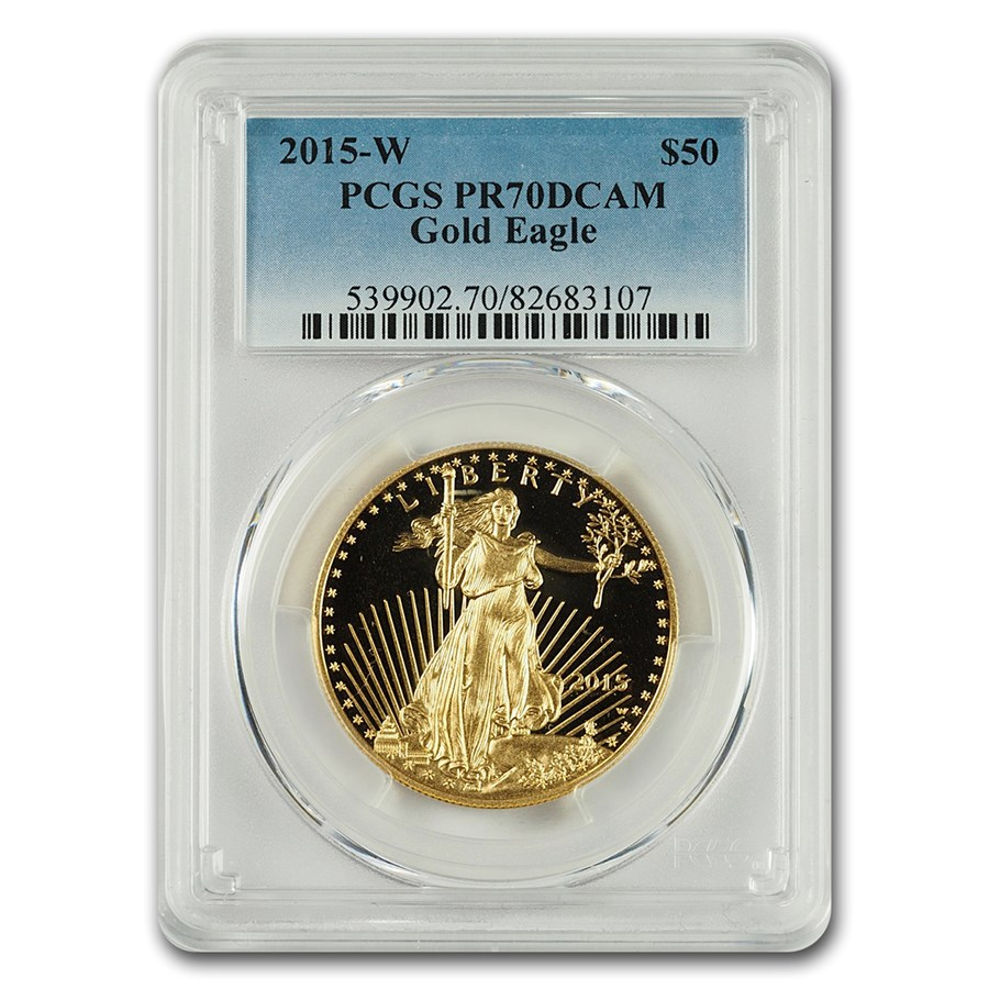 2015-W 1 oz Proof American Gold Eagle PR-70 PCGS