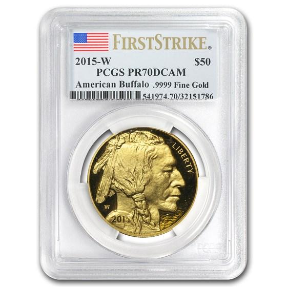 2015-W 1 oz Proof Gold Buffalo PR-70 PCGS (FirstStrike®)