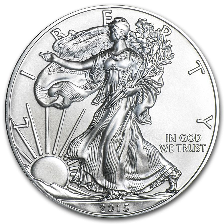 2015-W Burnished American Silver Eagle (w/Box & COA)