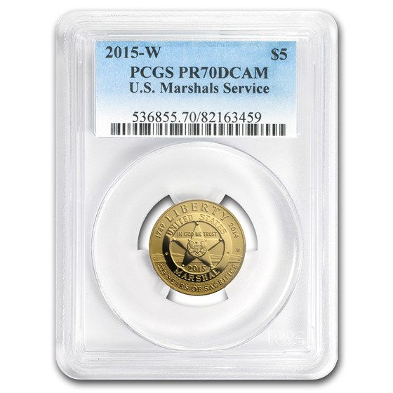 2015-W Gold $5 Commem U.S. Marshals Service PR-70 PCGS