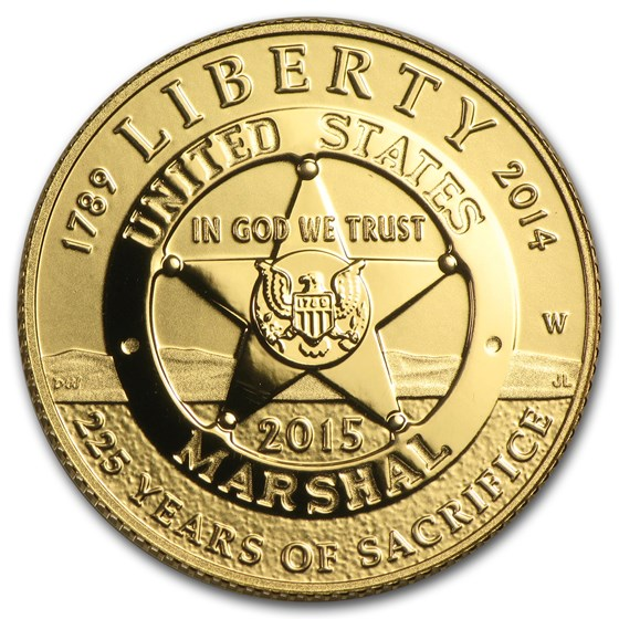 2015-W Gold $5 Commem U.S. Marshals Service Prf (w/Box & COA)