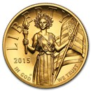 2015-W High Relief American Liberty Gold BU (w/Box and COA)