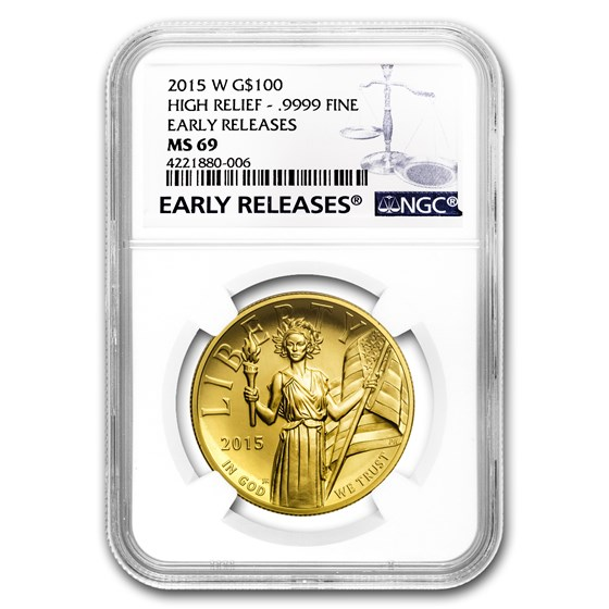 2015-W High Relief American Liberty Gold MS-69 NGC (ER/FR)