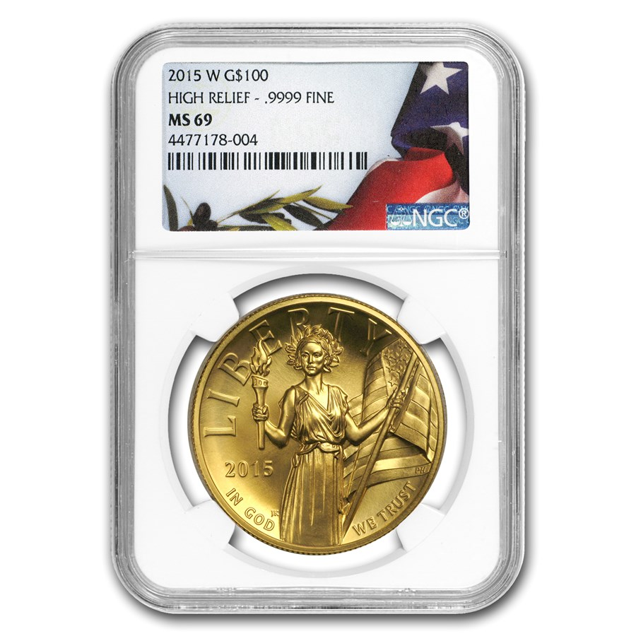 2015-W High Relief American Liberty Gold MS-69 NGC