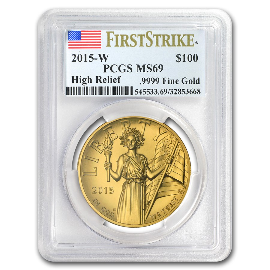 2015-W High Relief American Liberty Gold MS-69 PCGS (FS)