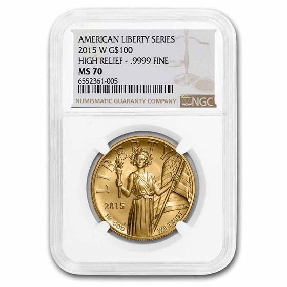 2015-W High Relief American Liberty Gold MS-70 NGC