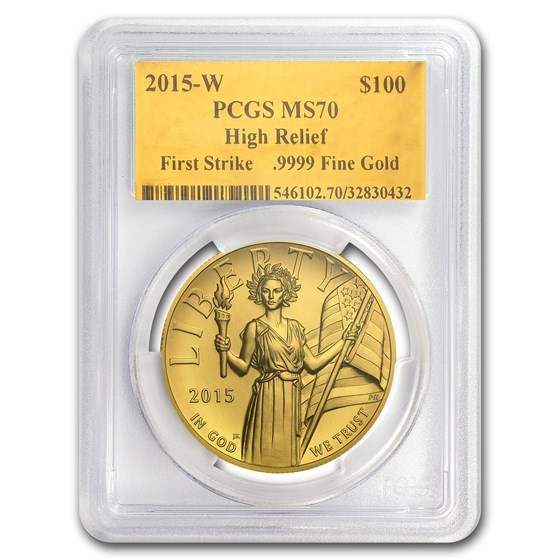 2015-W High Relief American Liberty Gold MS-70 PCGS (Gold Foil)