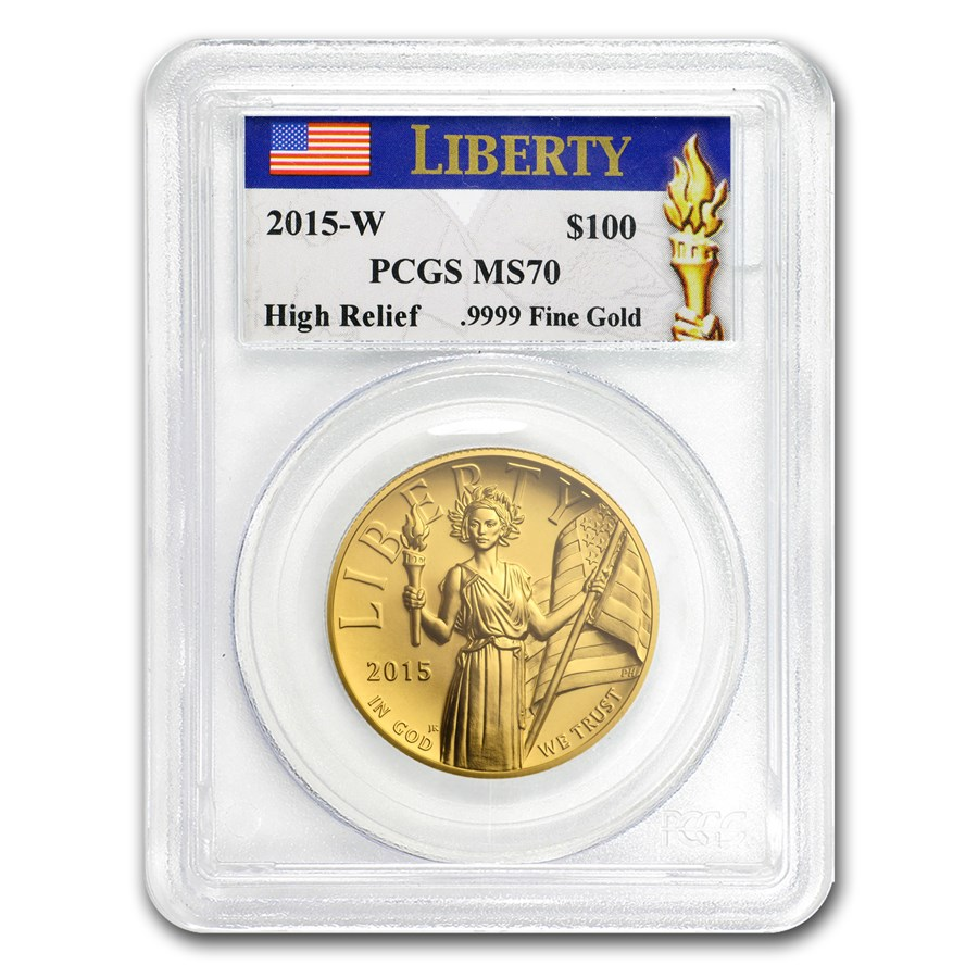 2015-W High Relief American Liberty Gold MS-70 PCGS