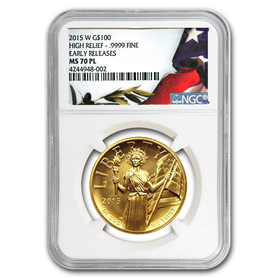 2015-W High Relief American Liberty Gold MS-70 PL NGC (ER)