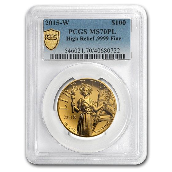 2015-W High Relief American Liberty Gold MS-70 PL PCGS