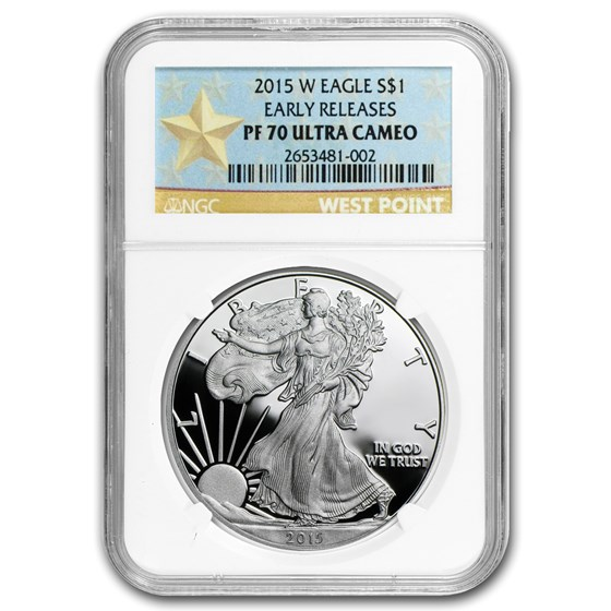 2015-W Proof American Silver Eagle PF-70 NGC (ER/FR)