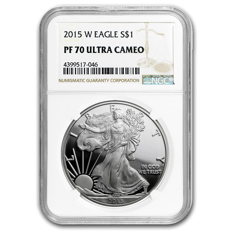 2015-W Proof American Silver Eagle PF-70 NGC
