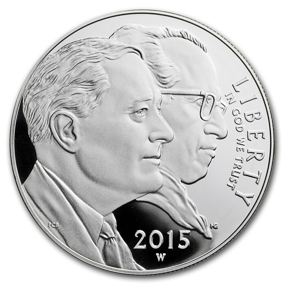 2015-W U.S. March of Dimes $1 Silver Commem Proof (Capsule Only)