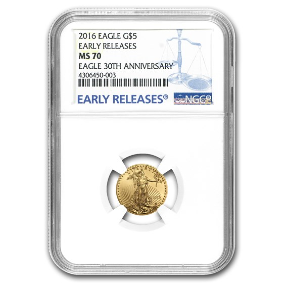 2016 1/10 oz American Gold Eagle MS-70 NGC (Early Releases)