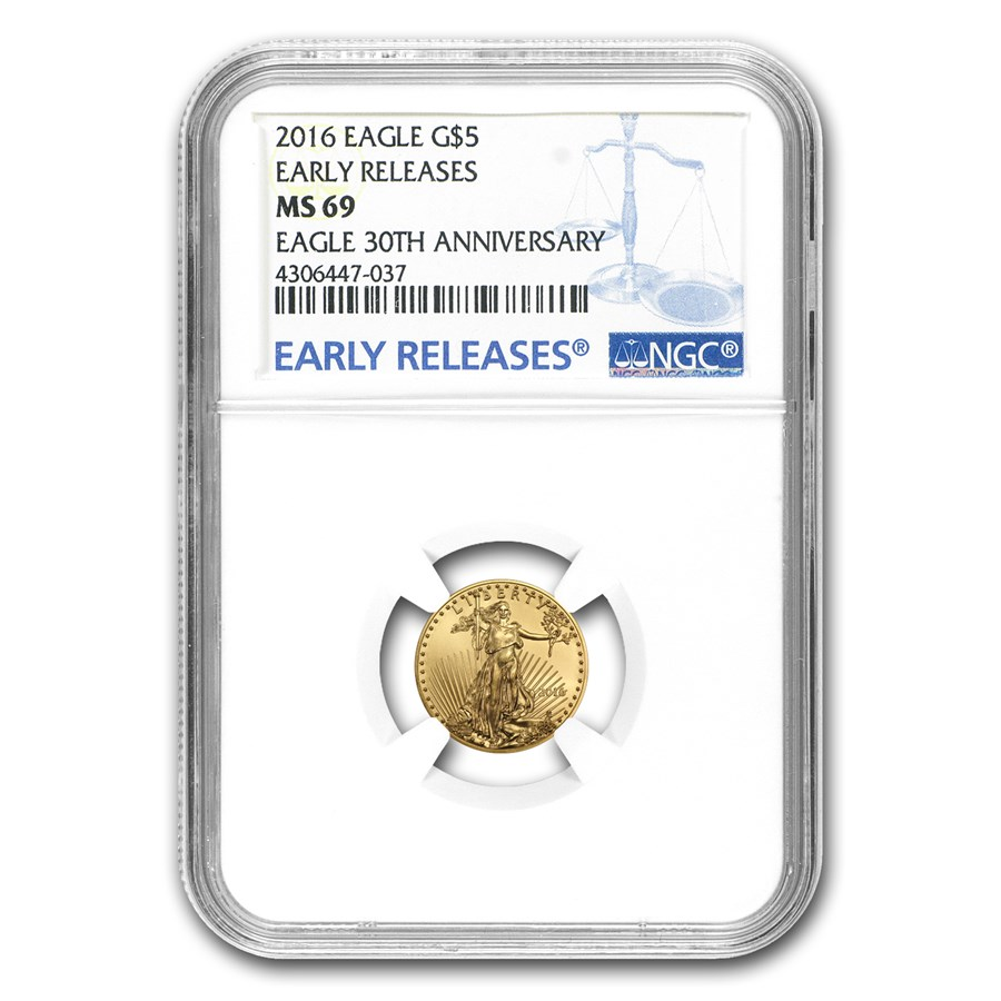 2016 1/10 oz Gold American Eagle MS-69 NGC (Early Releases)