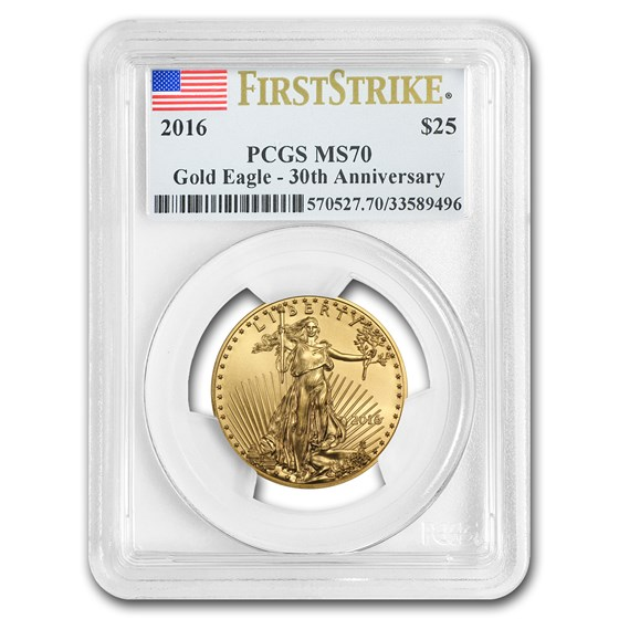 2016 1/2 oz American Gold Eagle MS-70 PCGS (FirstStrike®)