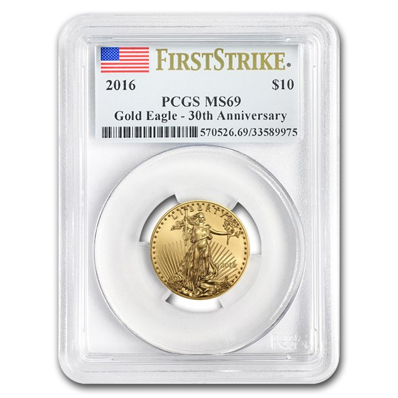 2016 1/4 oz Gold American Eagle MS-69 PCGS (FS)