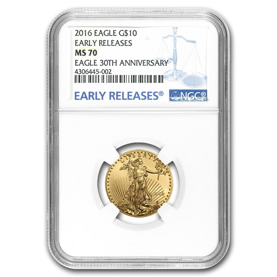 2016 1/4 oz Gold American Eagle MS-70 NGC (Early Releases)