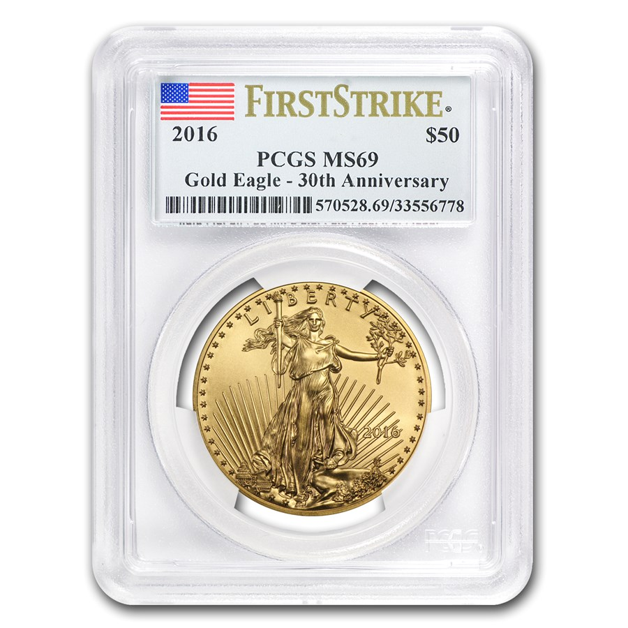 2016 1 oz American Gold Eagle MS-69 PCGS (FS)