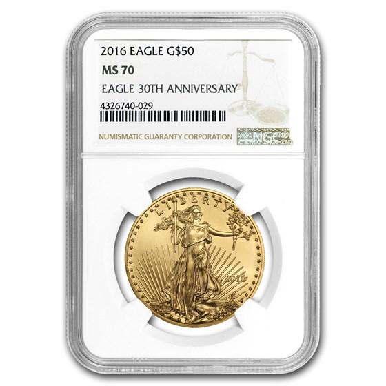 2016 1 oz American Gold Eagle MS-70 NGC
