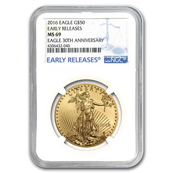2016 1 oz Gold American Eagle MS-69 NGC (Early Releases)