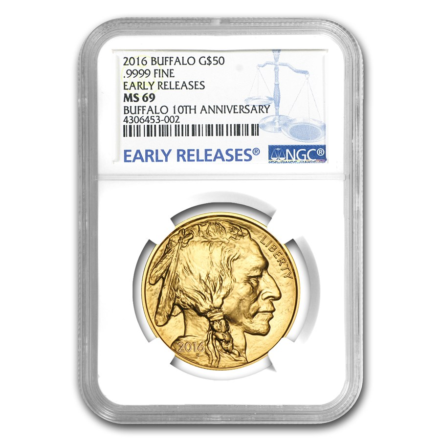 2016 1 oz Gold Buffalo MS-69 NGC (Early Releases)