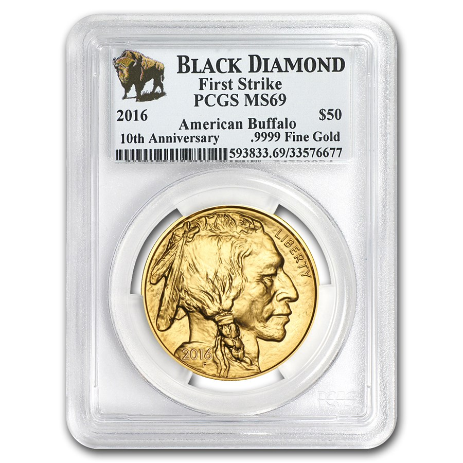 2016 1 oz Gold Buffalo MS-69 PCGS (FS, Black Diamond)