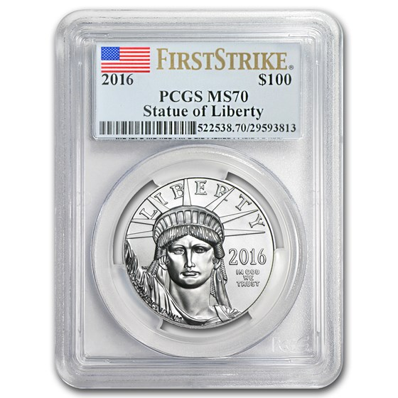2016 1 oz Platinum American Eagle MS-70 PCGS (FirstStrike®)