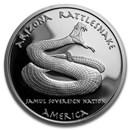 2016 1 oz Silver Proof State Dollars Arizona Apache