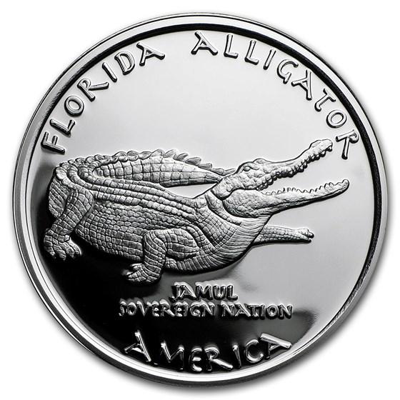 2016 1 oz Silver Proof State Dollars Florida Seminole