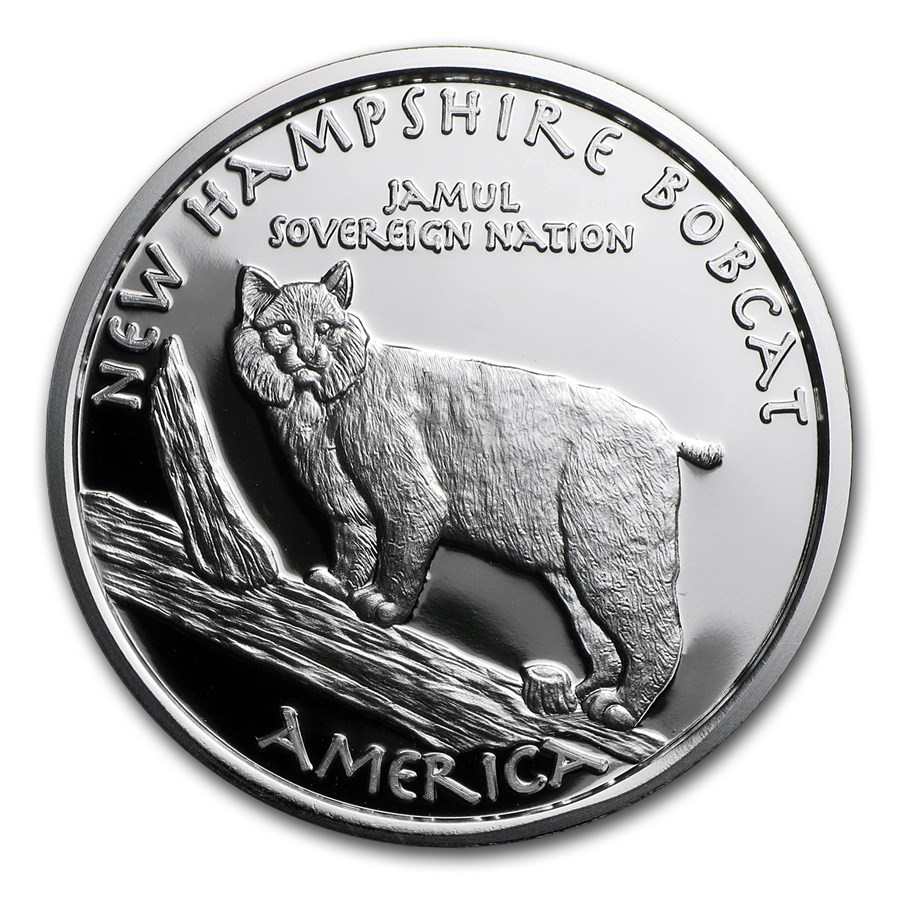 2016 1 oz Silver Proof State Dollars New Hampshire Abenaki