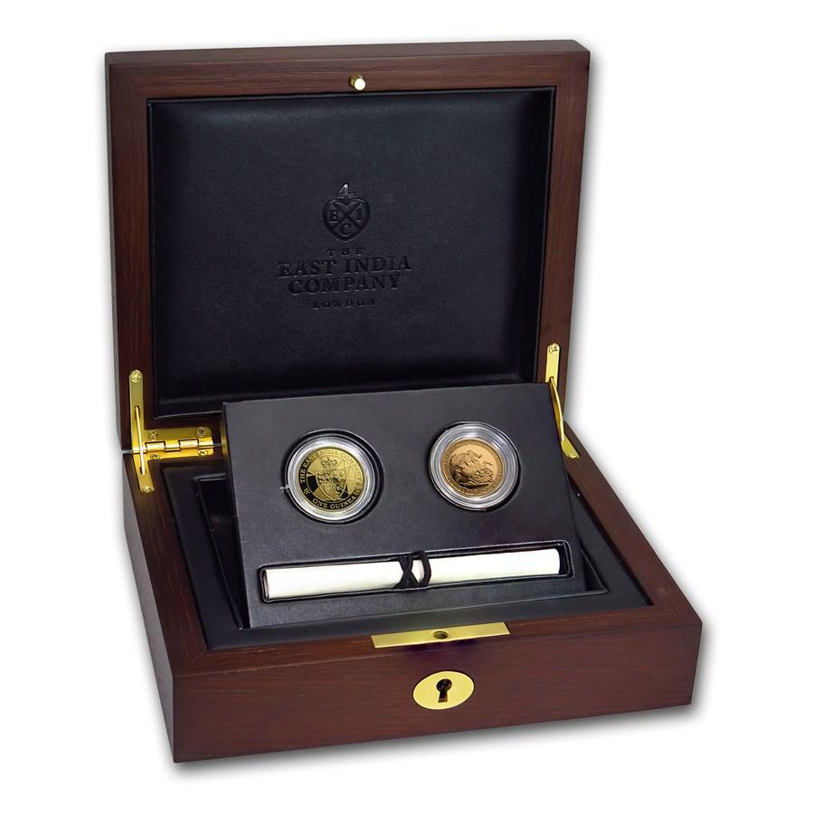 2016-17 GB 2-Coin Gold Guinea & Sovereign Bicentennial Proof Set