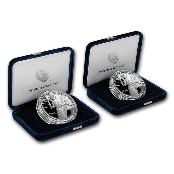 2016 2-Coin Silver American Liberty Medal Proof Set (S & W Mints)