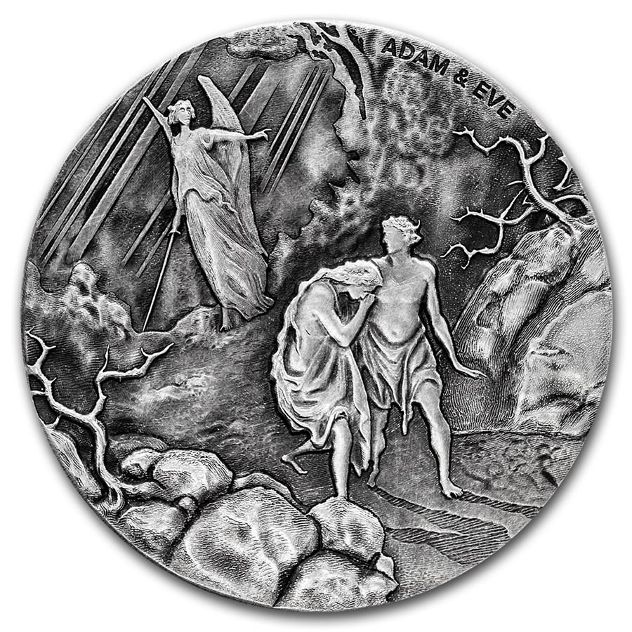 2016 2 oz Silver Coin - Biblical Series (Adam and Eve)