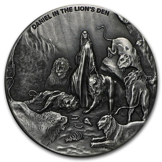 2016 2 oz Silver Coin - Biblical Series (Daniel in Lion's Den)