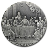 2016 2 oz Silver Coin - Biblical Series (The Last Supper)