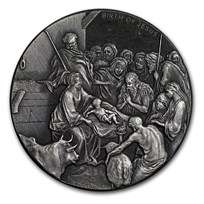 2016 2 oz Silver Coin - Biblical Series (The Nativity)