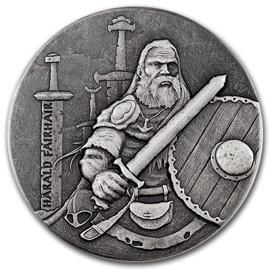 2016 2 oz Silver Coin Viking Series (Harald Fairhair)