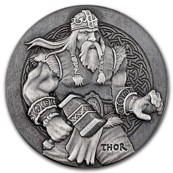 2016 2 oz Silver Coin Viking Series (Thor)