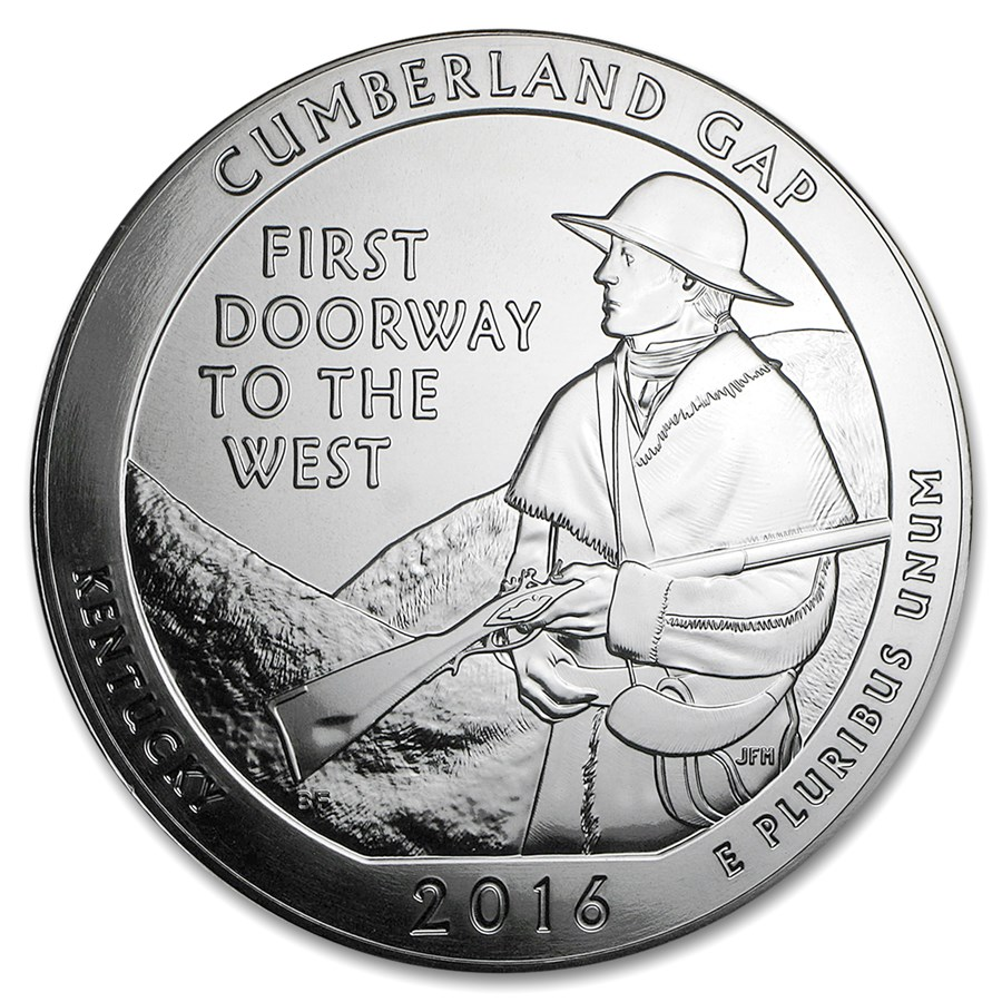 2016 5 oz Silver ATB Cumberland Gap National Historical Park, KY