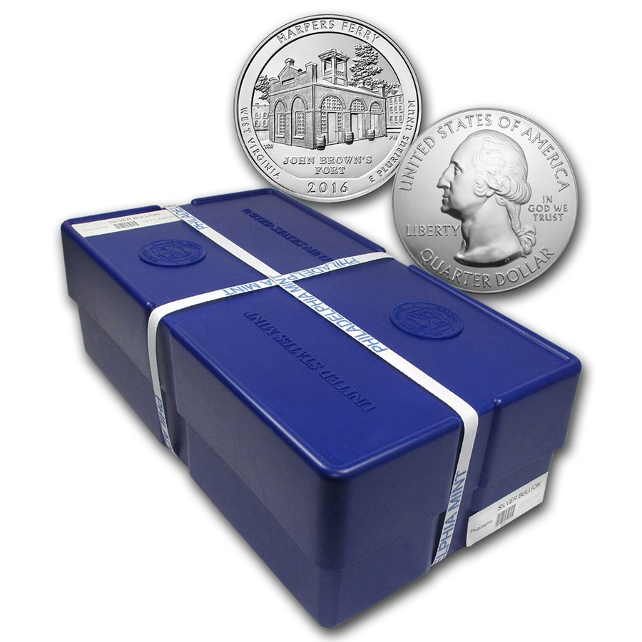2016 5 oz Silver ATB Harpers Ferry Park (Sealed Monster Box)