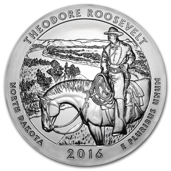 2016 5 oz Silver ATB Theodore Roosevelt National Park, ND