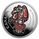 2016 5 oz Silver Mythical Realms of the Haida: Eagle (Coin Only)