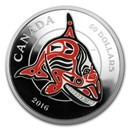 2016 5 oz Silver Mythical Realms of the Haida: Orca (Coin Only)